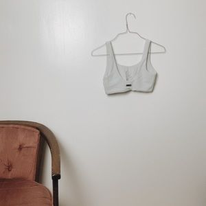Gymshark Pants - Gymshark Essence Bikini Top- Light Grey Size Small